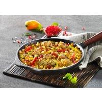 Falafel-Pfanne mit Granatapfel