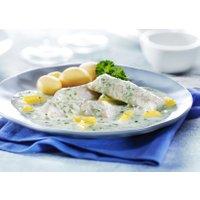 Fisch-Filetinis in Kräuter-Rahmsauce