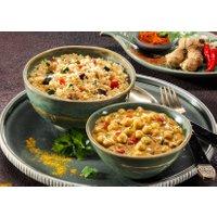 Kichererbsen Masala mit Gemüse-Couscous
